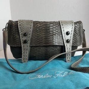 New Carlos Falchi Python Crossbody/Clutch Bag